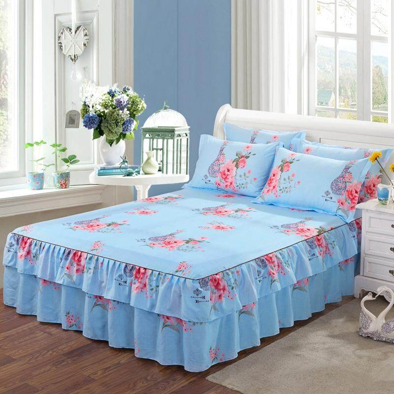5954a091ed Bed Sheet with Pillowcase Flower Printed Bed Linen Queen King Size Mattress  Covers Fitted Sheet Sets