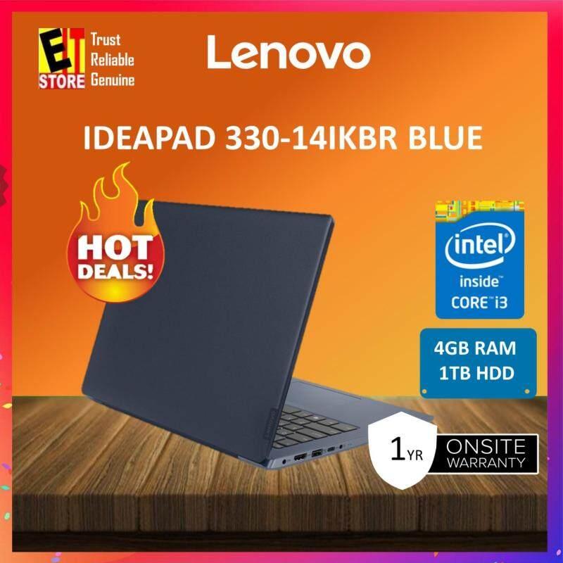 LENOVO IDEAPAD 330-14IKBR 81G2006VMJ BLUE (I3-7020U/4GB/1TB/14/DVD/W10/1Y) +Bag Malaysia