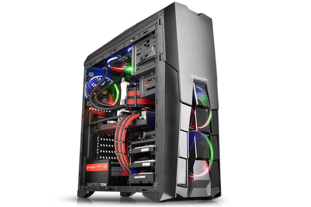 THERMALTAKE VERSA N25 MID TOWER CASE - BLACK Malaysia