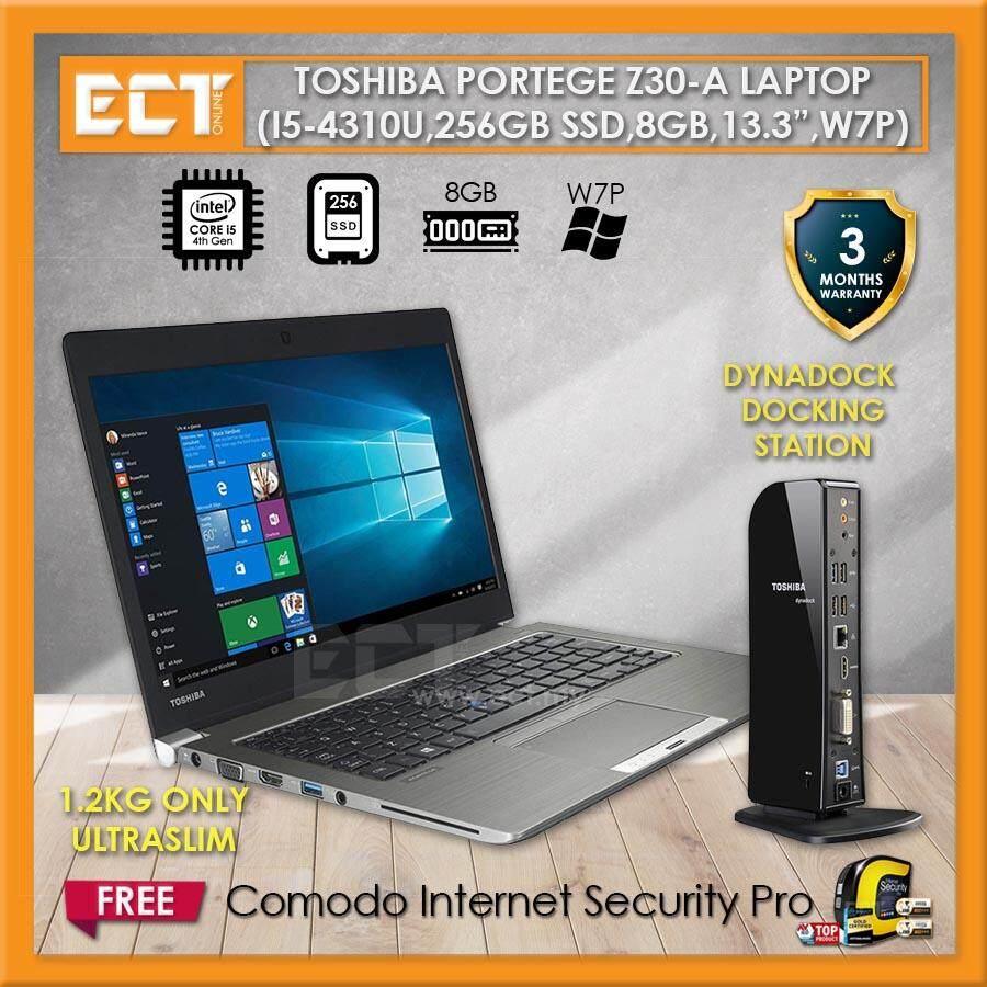 (Refurbished) Toshiba Portege Z30-A Ultrabook (i5-4310U 3.0Ghz,256GB SSD,8GB,13.3,W7P) Malaysia