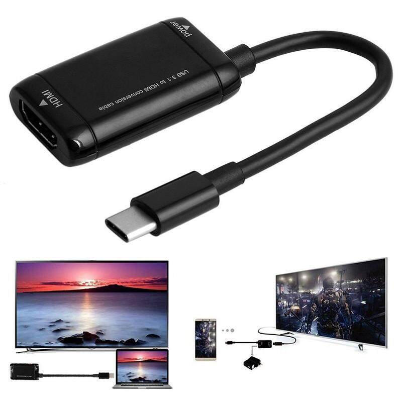 A-Mio USB Tipe C Ke HDMI 1080 P HD Audio Kabel Video untuk HDTV Adaptor Konverter untuk TV Tablet Telepon Komputer Tablet MacBook Huawei Samsung xiaomi