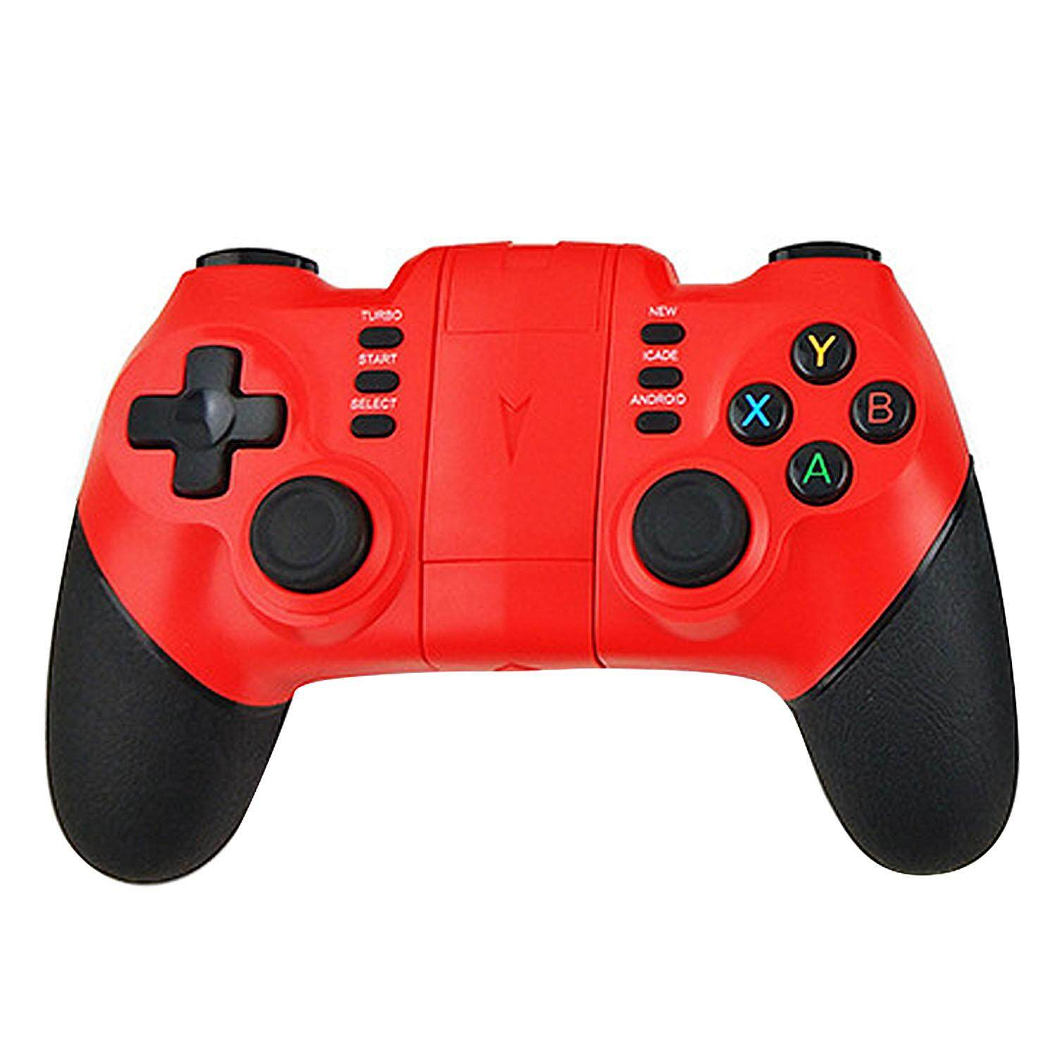 Wireless Bluetooth Gaming Controller Gamepad Joystick With Turbo Function Compatible With Android Ios Iphone Huawei Samsung Xiaomi Red By Stoneky.