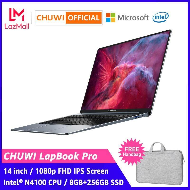 CHUWI Official LapBook Pro 14  1920*1080 FHD Screen Intel® N4100 CPU 8GB+256GB SSD 2.4G/5G WiFi Backlit Keyboard Lightweight Office Notebook Thin Laptop Windows 10 Computer PC