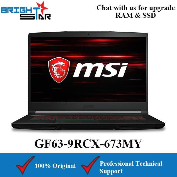 MSI GF63-9RCX-673MY Gaming (Intel I7-9750H/4GB/512GB SSD/GTX1050TI 4GB/15.6Inch/60Hz) Malaysia