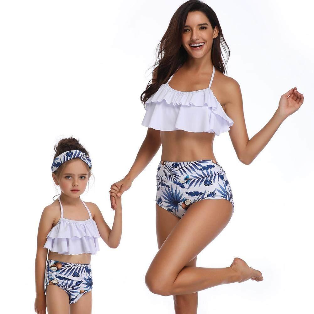 5729bfd6b6642 Yaababy Summer Family Match Outfits Cute Swimsuit Bikini Set Mom Daughter  Swimwear