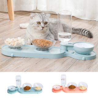 Bát Cho Chó Mèo Thú Cưng, Bát Ăn 3 Trong 1 Uống Chai Tập Hợp Đầy Đủ, Bát Đựng Thức Ăn Tự Động Cho Cún Con Kitty Vật Nuôi Cung Cấp thumbnail