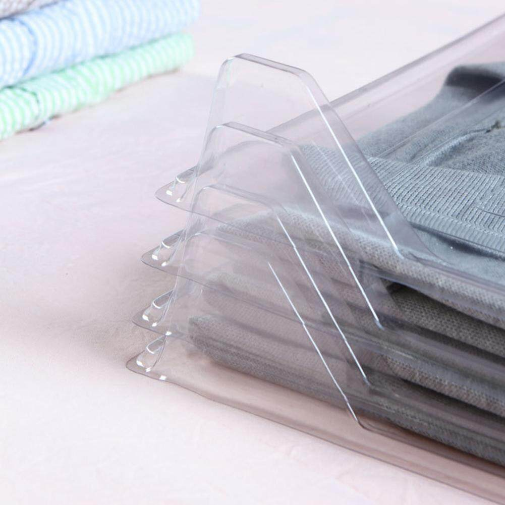 Big House 10Pcs/Set Transparent Household Fast Clothes Fold Board Closet Drawer Stack Organizer