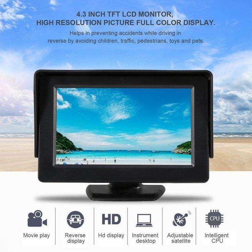 ขาย TOP 4.3 จอแอลซีดีที่มีการตอบสนองสูงรถจอแสดงผลด้านหลังสำหรับรถ VCD/DVD/GPS/Camera