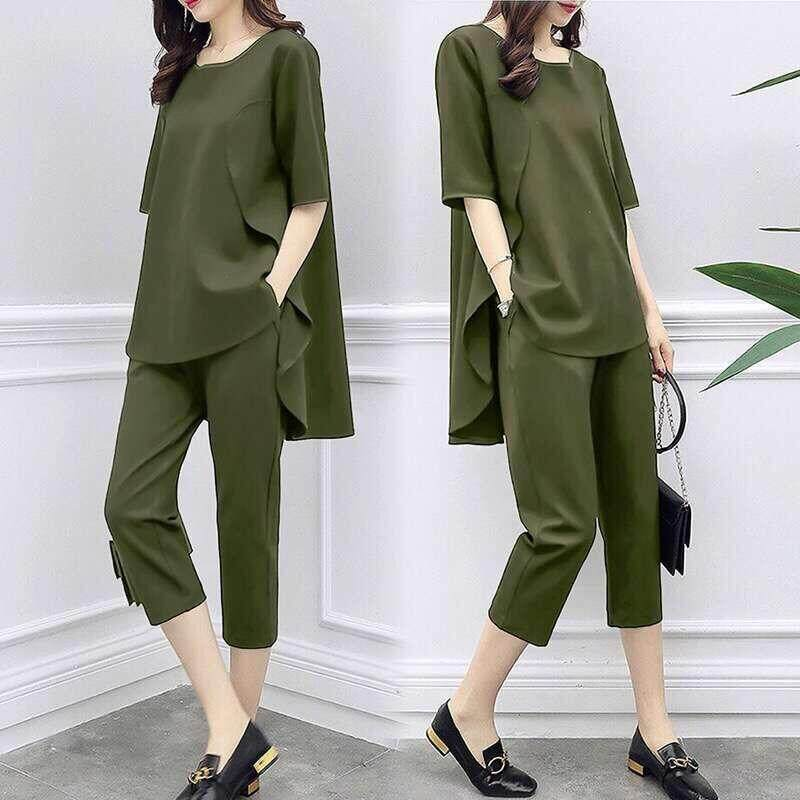 caab6fa854d Cocoepps 2019 Fashion Suits Autumn/winter New Style Broad-Leg Trouser Suit  Korean Edition