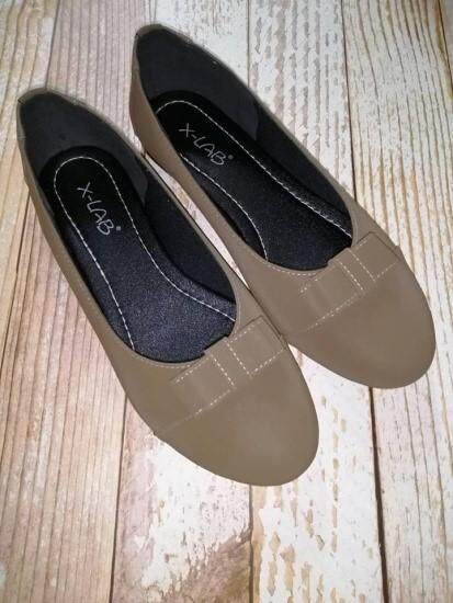 Extra Large Size Ladies Slip On Ballerina Shoe T051 By Paradoxzone.