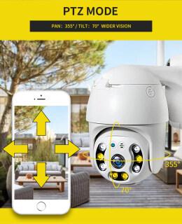 Inqmega 1080P Camera IP PTZ Không Dây Tự Động Theo Dõi Ngoài Trời Không Thấm Nước 4X Thu Phóng Kỹ Thuật Số Speed Dome 1Inch Wifi An Ninh Camera CCTV thumbnail
