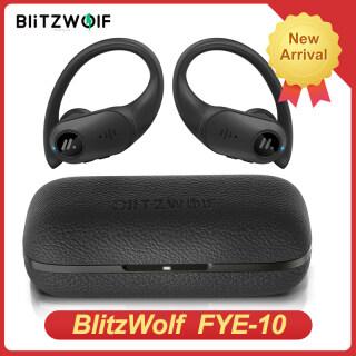 Tai Nghe Bluetooth 5.0 BlitzWolf BW-FYE10 TWS Tai Nghe Bluetooth 13Mm Trình Điều Khiển Năng Động Lớn Bass Tai Nghe Thể Thao Stereo Với Hộp Sạc Bằng Da-Đen thumbnail