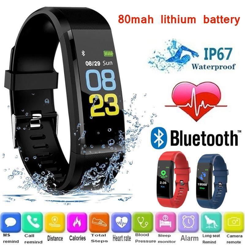 Monitor Smart Wristband Smart Bracelet Multifunction Waterproof Smart Watch  Color Screen 0 96inch ID 115