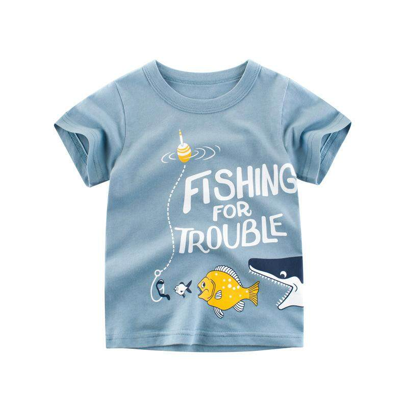 Boy Summer Fashion Cute Cartoon Fish Casual T-shirt