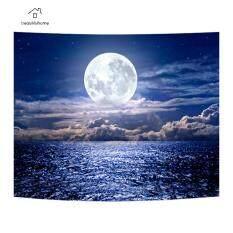 Thảm Nghệ Thuật Tưởng Tượng Mặt Trăng Đêm Yoga Bãi Biển Mat Tường Treo VảI