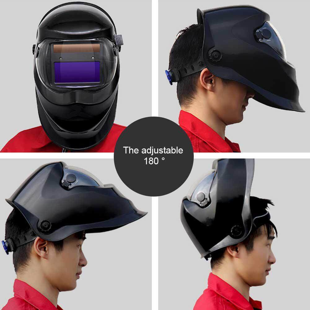 Kobwa Solar Powered Auto Darkening Welding Helmet Protective Mask Auto Darkening Hood with Adjustable Wide Shade Range Arc Welder Mask