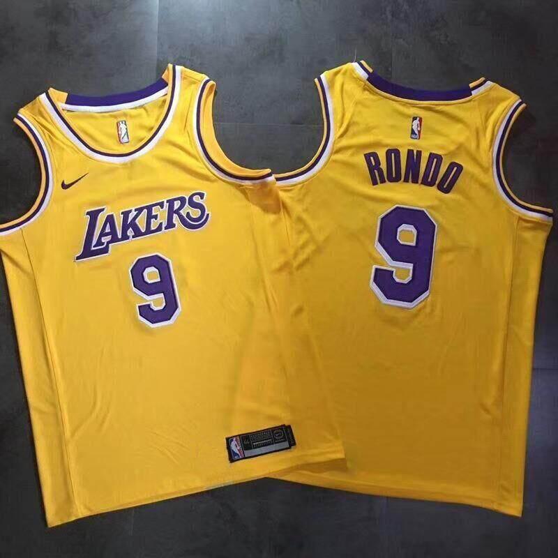 Nam Và Nữ Bóng Rổ NBA Đồng Nhất Toàn Sao Los Angeles Lakers Đội Số 9 Áo Rondo Học Sinh Thể Thao Bóng Rổ áo Vest (Retro Vàng) Giảm Cực Khủng