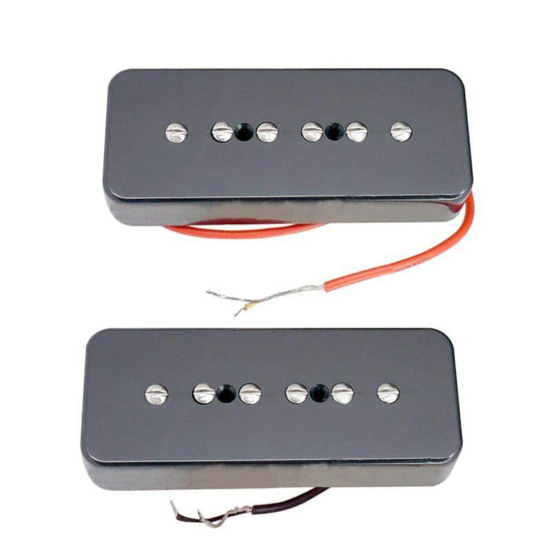 Baoblade Black P90 Neck&Bridge Single Coil Guitar Pickup Set for Les Paul Replacement Malaysia