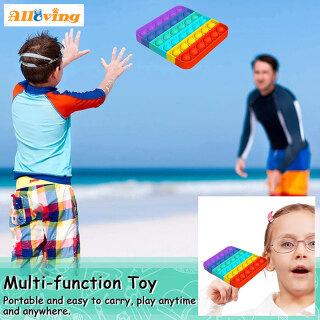 Alloving 1x Mainan Fidget Sensor, Thần Tài Gelembung Pop , Dorong Penghilang Stres Kebutuhan Khusus Kelas Diam Mainan Bật Nó Thần Tài Murah Popit Mainan 8