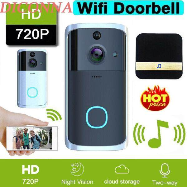 Smart Video Wireless WiFi Door Bell IR Visual Camera Record Security System