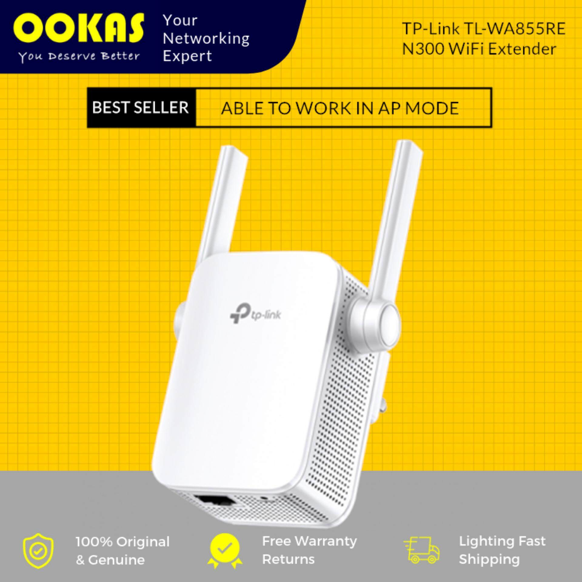 Tp-Link New Ver. Tl-Wa855re Repeater Wifi Wireless Range Extender Booster With Ap By Ookas.