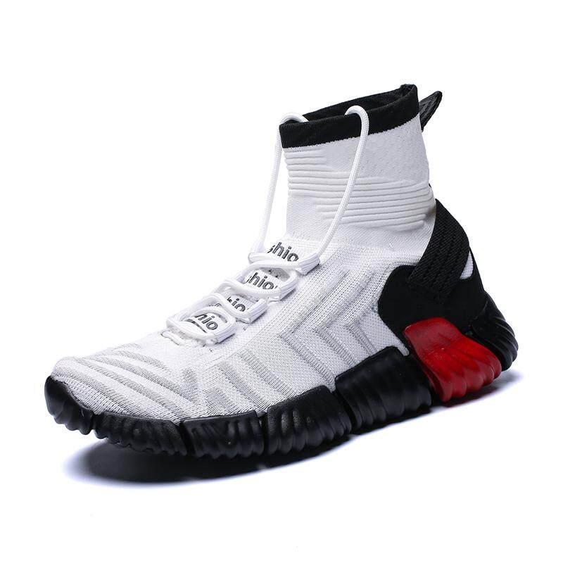 Image 4 for 2019 แฟชั่น High CUT ถุงเท้าข้อเท้ารองเท้าสตรีทสไตล์ผู้ชายรองเท้ากีฬา