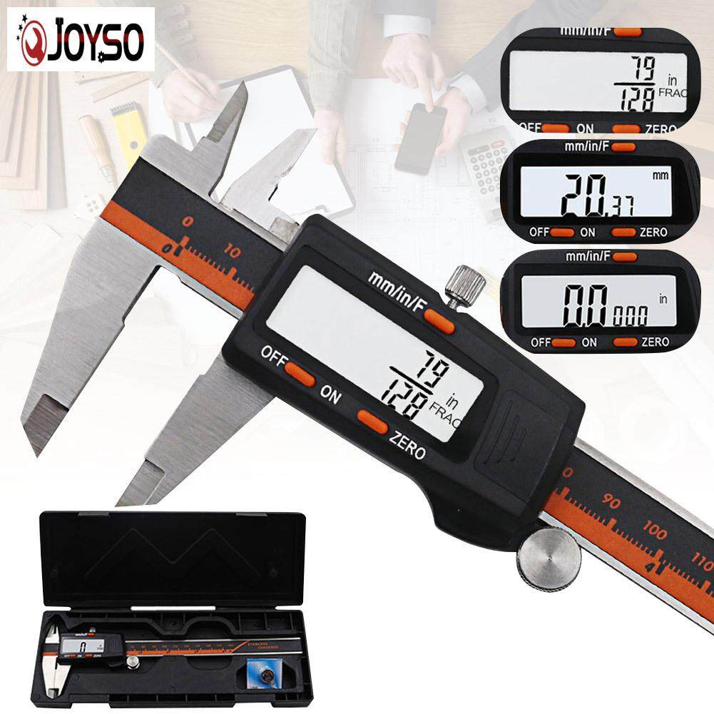JOYSO Digital Caliper 6Inch/150mm High Precision Stainless Steel LCD Screen Display Tool
