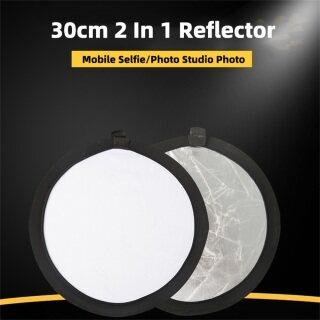 Hàng Có Sẵn Tấm Bảng Phản Xạ Phông Nền Studio Chụp Ảnh Có Thể Thu Gọn Đa Năng 30CM 2 Trong 1 Đèn Gấp Di Động, Đèn Phản Quang Chụp Ảnh Tròn Bảng Đèn Lấp Đầy Phụ Kiện Studio Ảnh Ảnh thumbnail