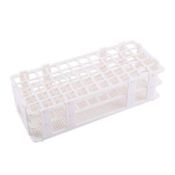 1pc Plastic Test Tube Rack 60 Holes Holder Storage Plastic Tube Rack Stand Lab Tube Stand 3 Layers 16mm Hole