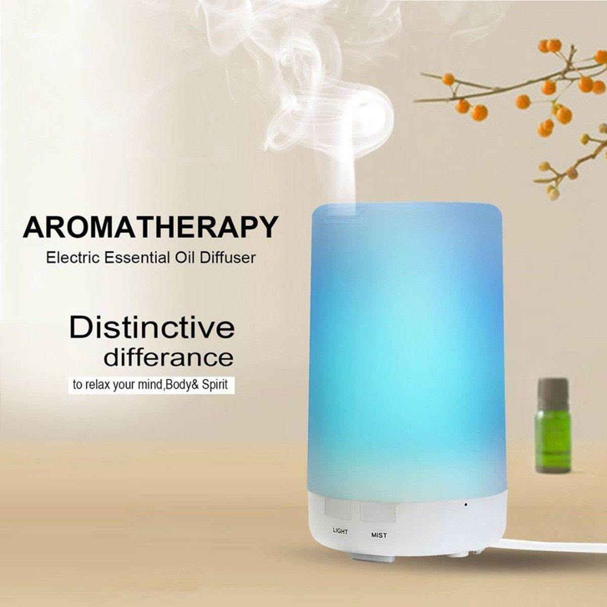 LED Ultrasonic Aroma Essential Diffuser Air Humidifier Purifier Aromatherapy Hot