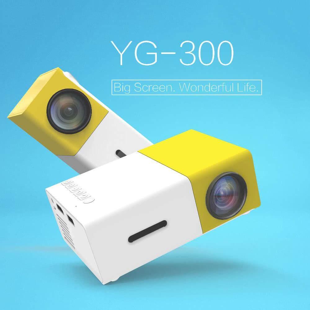 Proyektor Mini Portabel YG300 3D HD LED Bioskop Home Theater 1080 P AV USB HDMI Inggris