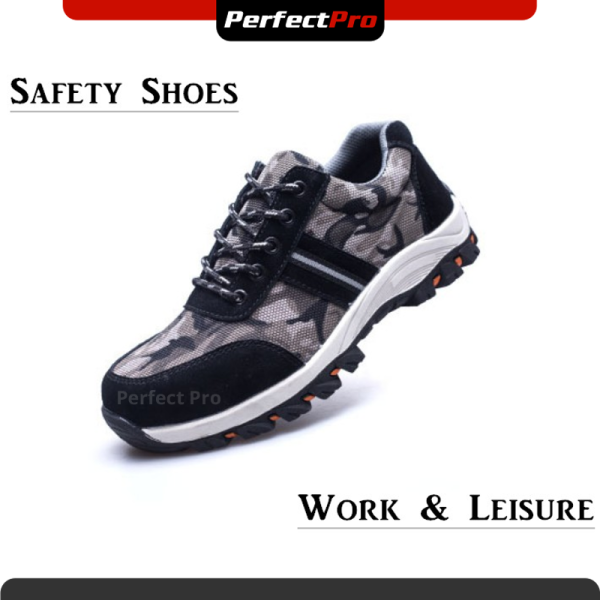 Sport Safety Shoes 527 Army Black Low Cut Lace Up Safety Boots Steel Toe Cap Steel Mid Sole Outdoor Fashion Kasut Keselamatan Lelaki Kasut Safety