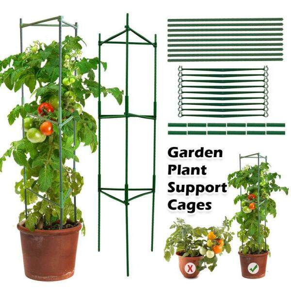 Garden Plant Support Cages Tomato Growing Cage Sturdy Garden Plant Support Stakes Easy To Assemble Durable Plastic