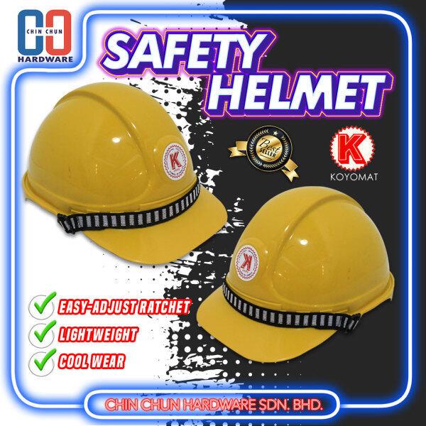 [READY STOCK] KOYOMAT SAFETY HELMET YELLOW/CONSTRUCTION HELMET YELLOW