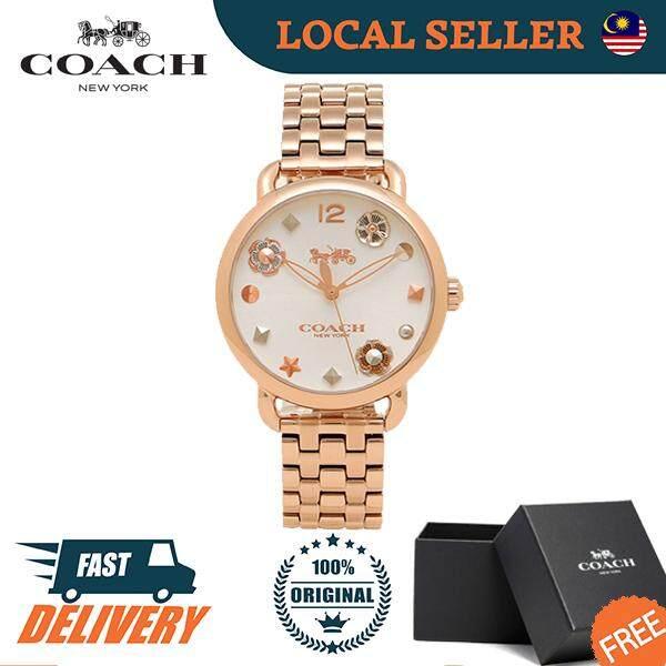 [Authentic] Coach Delancey Rose Gold Women Ladies Fashion Watch Jam Tangan Wanita - 14502811 Jam Tangan Wanita Malaysia