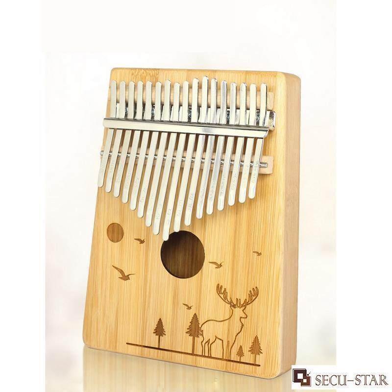 SECU-STAR Kalimba 17 Keys Thumb Piano Finger Piano Hand Piano Bamboo Body with Accessories Malaysia