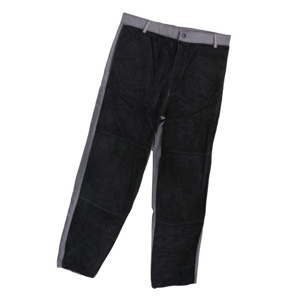 Miracle Shining Welding Suits Heat/Flame Resistant Heavy Duty Anti-scald Pants