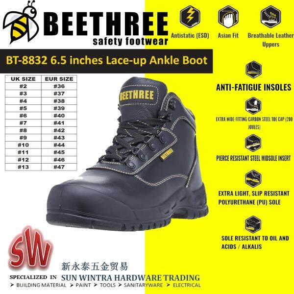 BEETHREE BT8832 6.5INCHES LACE-UP SAFETY SHOES