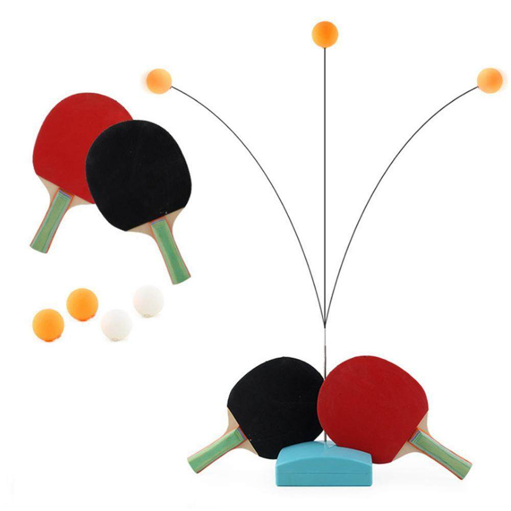 ckground Table Tennis Trainer Set Elastic Soft Shaft Leisure Decompression Sports for Everyone Indoor or Outdoor Play