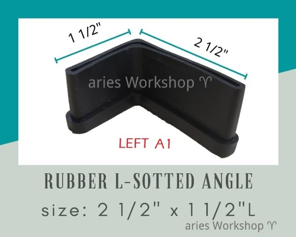 Tapak Getah Besi Rak Lubang / Slotted Angle Bar Rubber Base