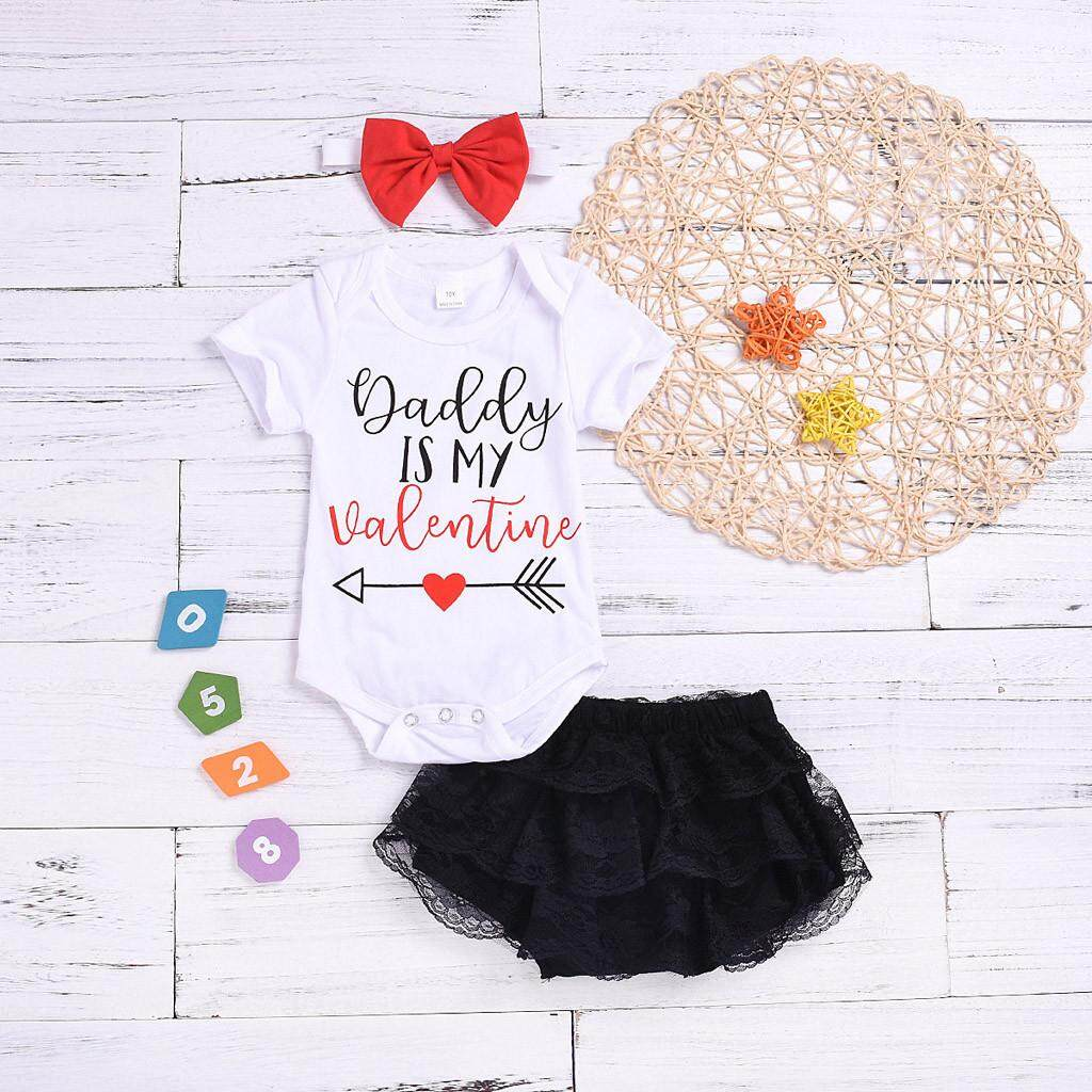 Newborn Kids Baby Girls Boys Clothes Father/'s Day Letter Print Romper Bodysuit