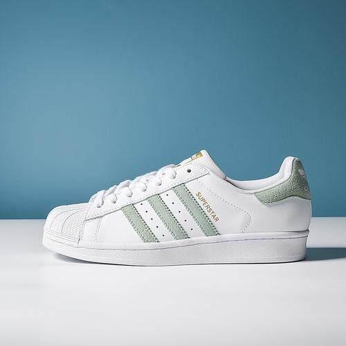 f80048cdf34 Adidas Men's shoes women's shoes clover classic fashion trend leisure mint  green shellfish casual sports shoes
