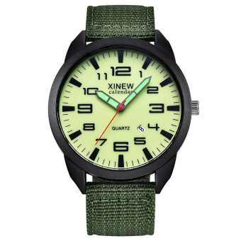 You Raise Me Up XINEW กลางแจ้ง Mens สเตนเลสสตีลวันที่ทหารกีฬานาฬิกาข้อมืออะนาล็อกควอตซ์นาฬิกา WKJV643129VDW