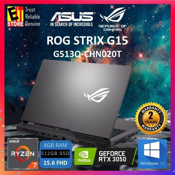 ASUS ROG STRIX G15 G513Q-CHN020T GAMING LAPTOP -ECLIPSE GRAY(R7-5800H/8GB/512GB SSD/15.6 FHD 144HZ/NVIDIA RTX 3050 4GB/W10/2YRS)+BAG Malaysia