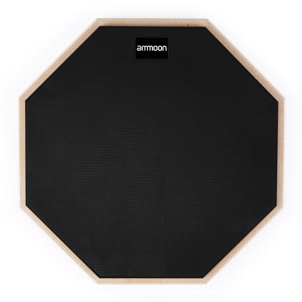 ammoon 12 Inch Drum Practic Pad Silent Drum with Drumstick Carry Bag for Drum Players Beginners Malaysia