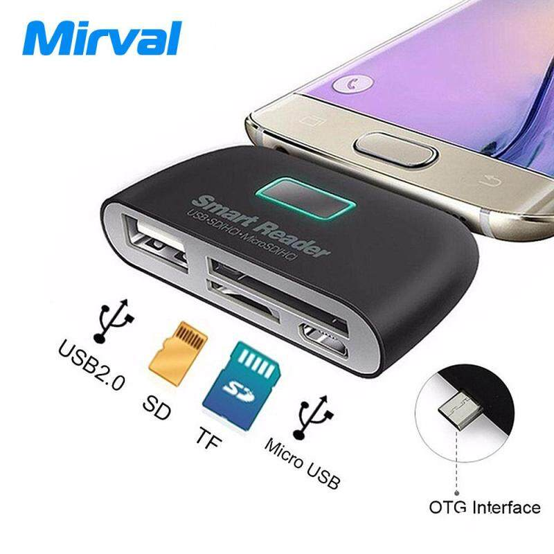 Mirval IF5 4 In1 ABS USB 3.1 Type C USB-C TF Micro SD OTG Card Reader For Macbook Phone Tablet