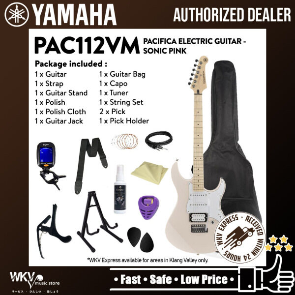 Yamaha PAC112VM Pacifica Electric Guitar HSS with Alder Body Maple Fingerboard - Sonic Pink (PAC112 / PAC 112VM) Malaysia