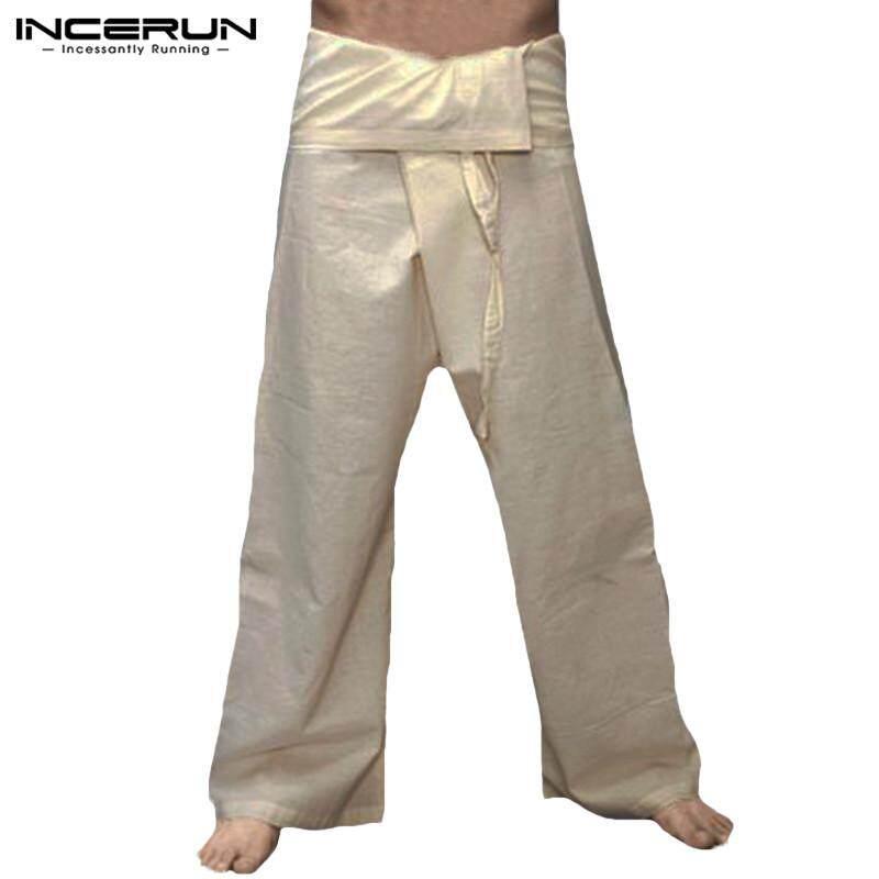 18819c7ba9b6c2 INCERUN YOGA Massage Thai Pants Long Baggy Thai Trousers Cotton Wrap For Men  & Women