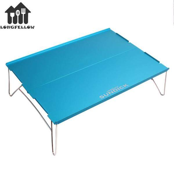 Durable Camping Tables Delicate Texture Furniture Picnic Folding Table BBQ Tea Table for Hiking Blue