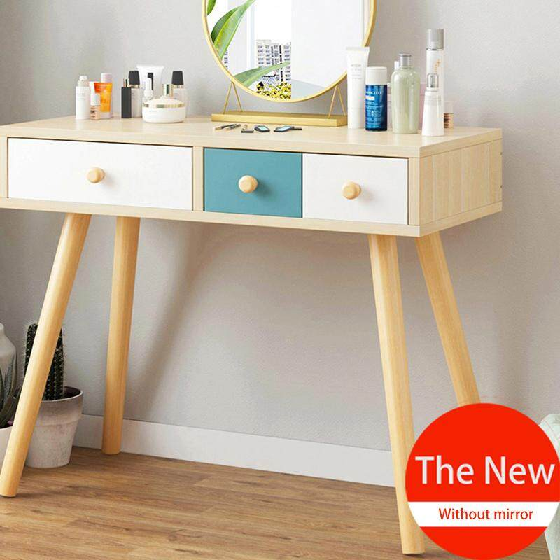 Dressing Table, Solid Wood, European Bedroom Dressing Table, Princess Makeup Cabinet Luxury Flip Small Dressing Table